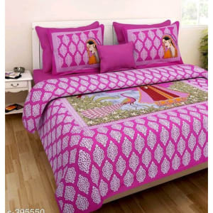 Jaipuri Decorative Printed Double Bedsheets Vol 6 (4)