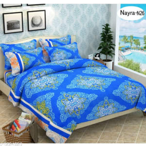 Stellar Latest Poly Cotton Double Bedsheets Vol 1 (1)