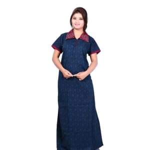 Women's Embroidered Cotton Nighty