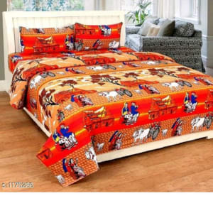 Splendor Exotic Poly Cotton Double Bedsheets Vol 3 (10)