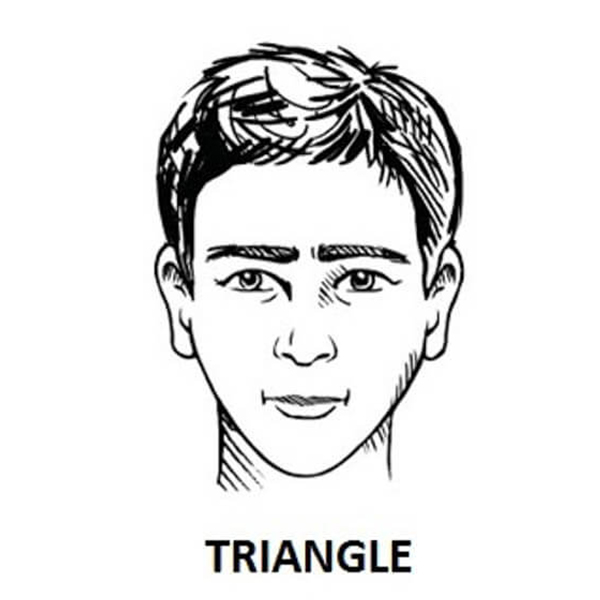 Triangular face shape