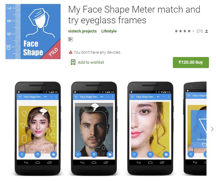 face shape detector app