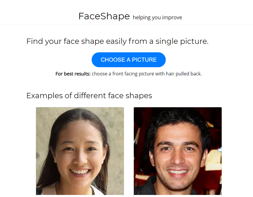 Face Shape finder