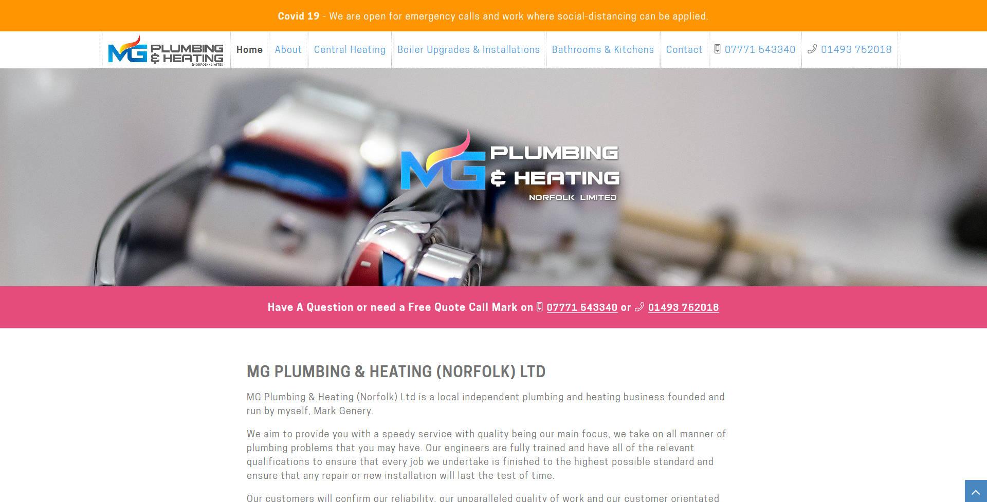 MG Plumbing & Heating (Norfolk) Ltd