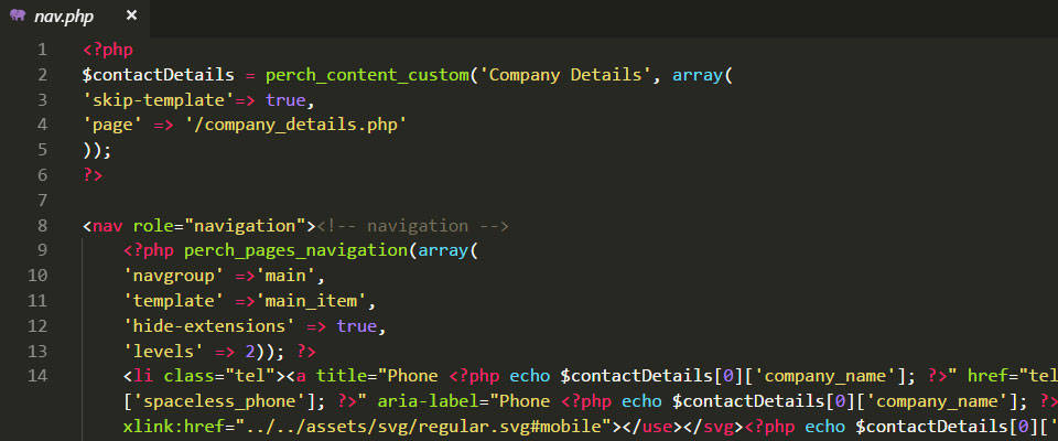 How I use a Company Details Page in Perch