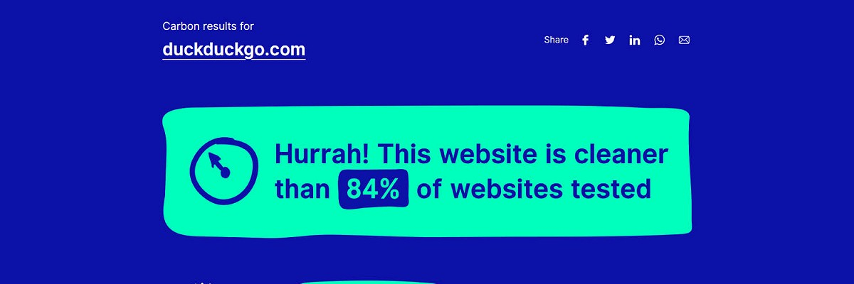 How Green Is Your Website?
