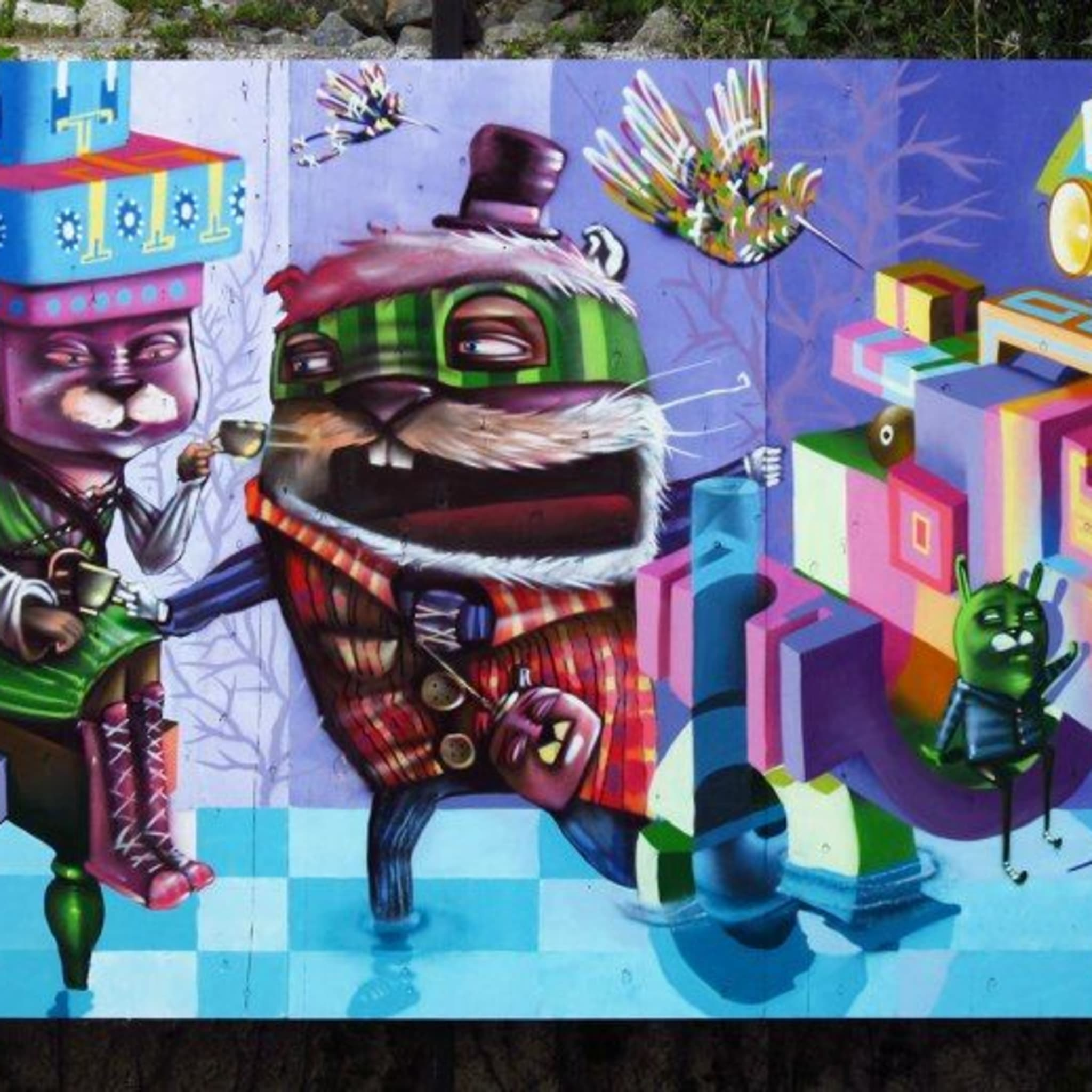 Œuvre Par Sebastian Navarro - Charquipunk, Painters à Valparaíso