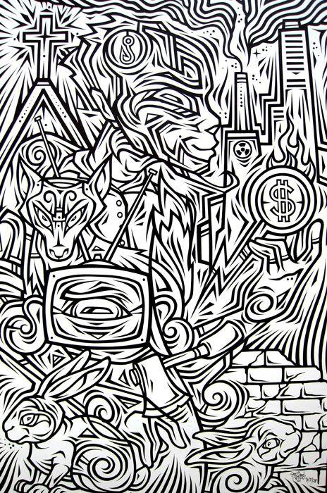 Œuvre Par Phibs à Sydney (Illustration)