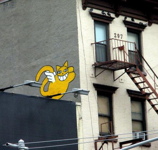Œuvre Par Monsieur Chat à New York