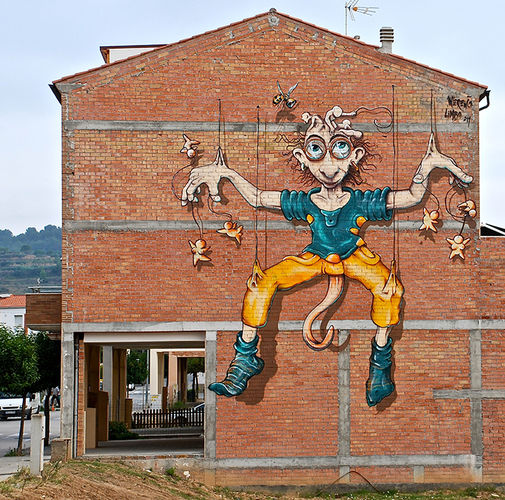 Artwork By Werens in Sant Pere de Riudebitlles (Building facade)