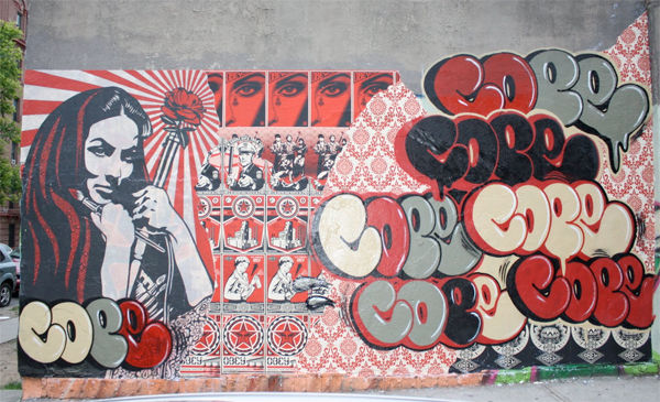 Artwork By Cope2, Shepard Fairey in New York City
