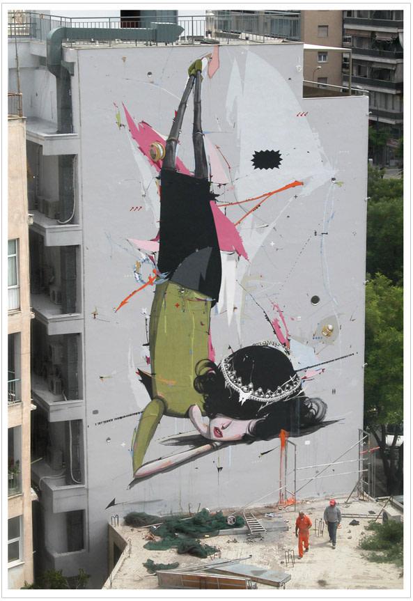 Œuvre Par Alexandro Vasmoulakis à Athènes (Façades)