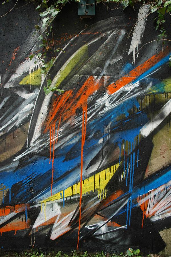 Œuvre Par Gilbert1 à Nancy (Coulures, Graffiti)