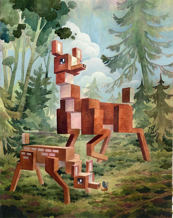 Artwork By Laura Bifano in Vancouver (Pixel Art)