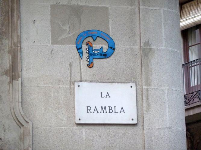Œuvre Par oré à Barcelone