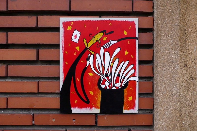 Œuvre Par Le Chat Zèbre à Ottignies-Louvain-la-Neuve