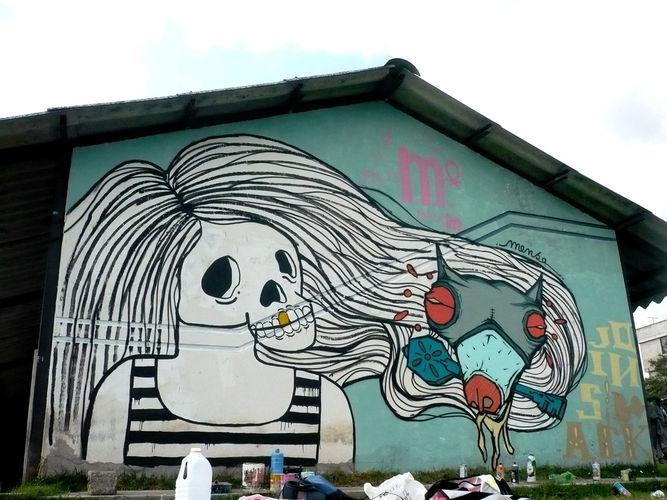 Œuvre Par Mensa à Quito (Dark, Façades, Ironie)