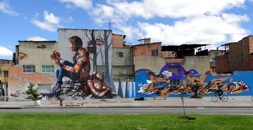 Œuvre Par Fintan Magee à Bogota