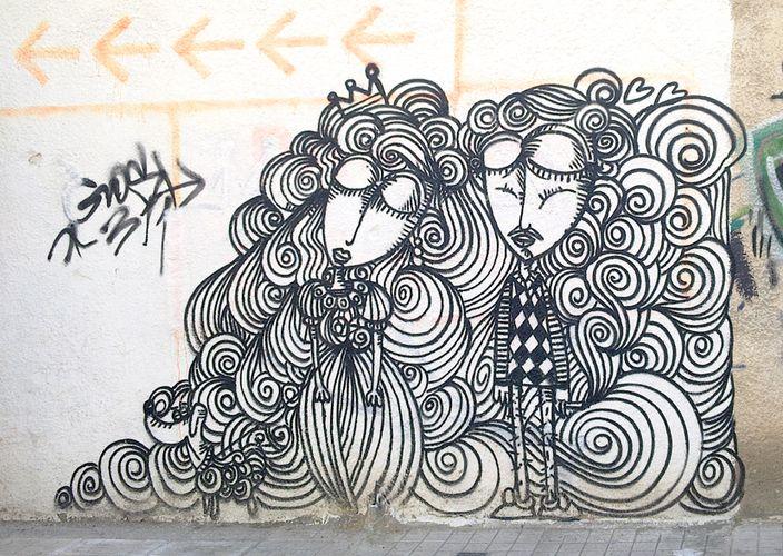 Œuvre Par Sonkè à Athènes (Personnages)