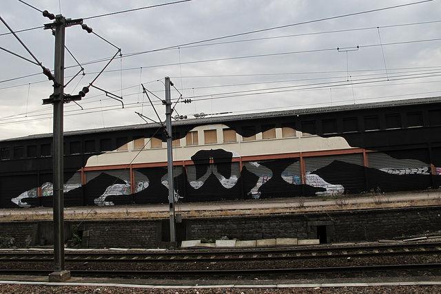 Œuvre Par Sam3 à Besançon (Street Art)