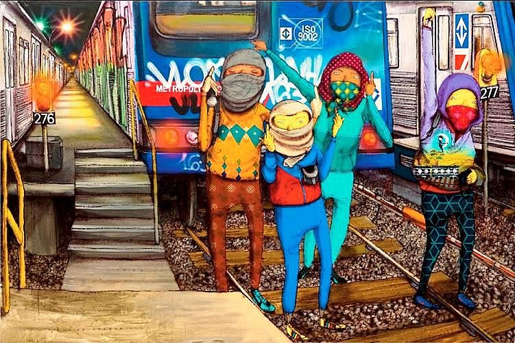 Artwork By Os Gemeos in New York City