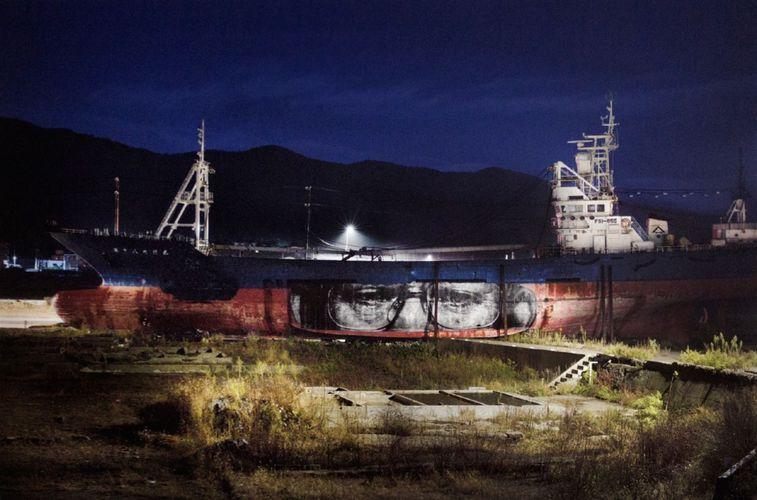 Œuvre Par JR à Kesennuma