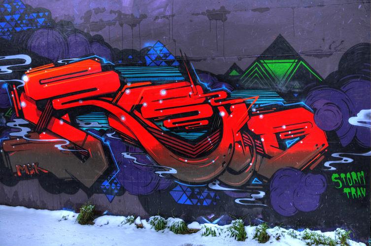 Artwork By Roid in Brighton (Graffiti)