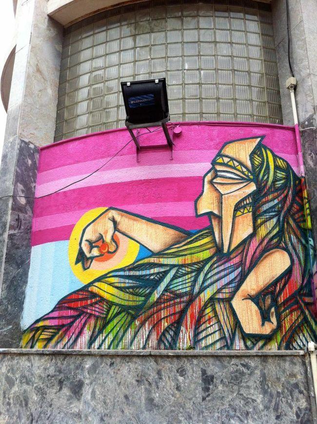 Œuvre Par Henruz à Montevideo (Coulures, Portrait)