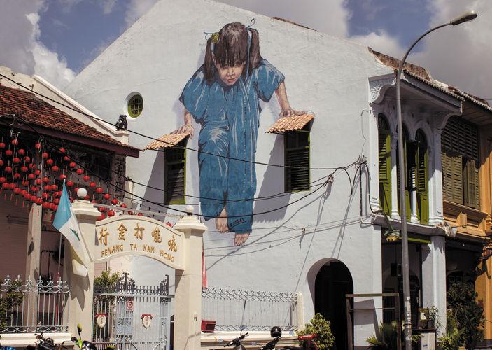 Œuvre Par ernest zacharevic à Penang