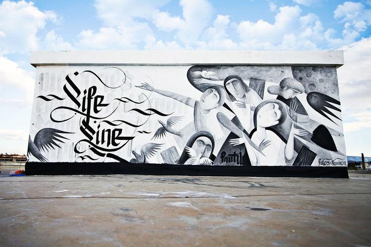 Œuvre Par Fikos, Simon Silaidis à Athènes