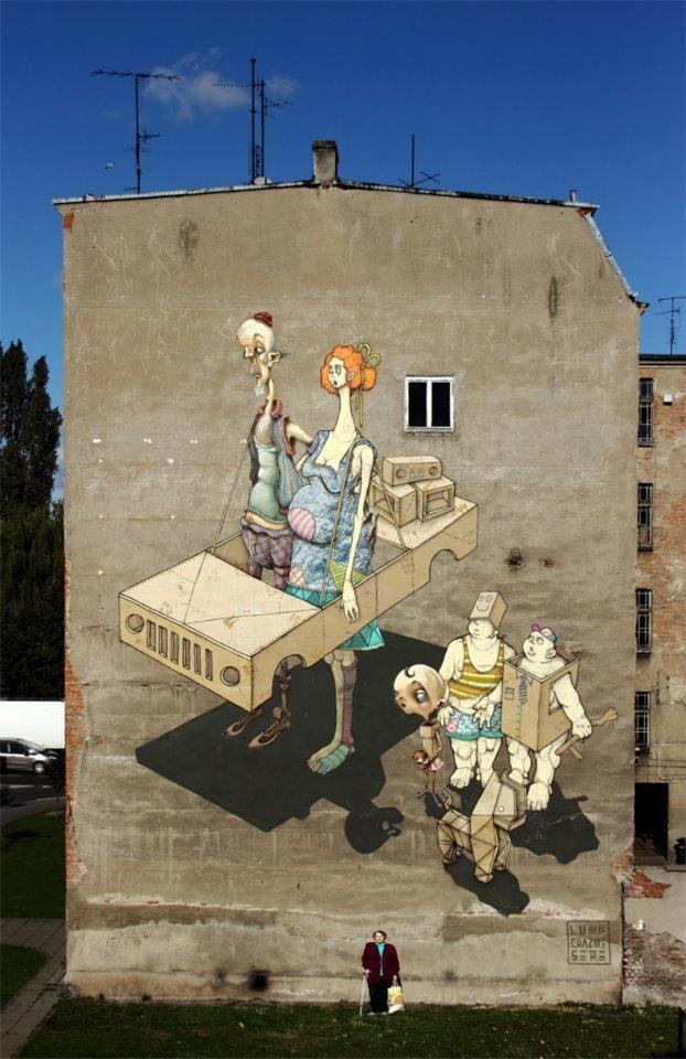 Œuvre Par Chazme718, Sepe à Szczecin (Façades)