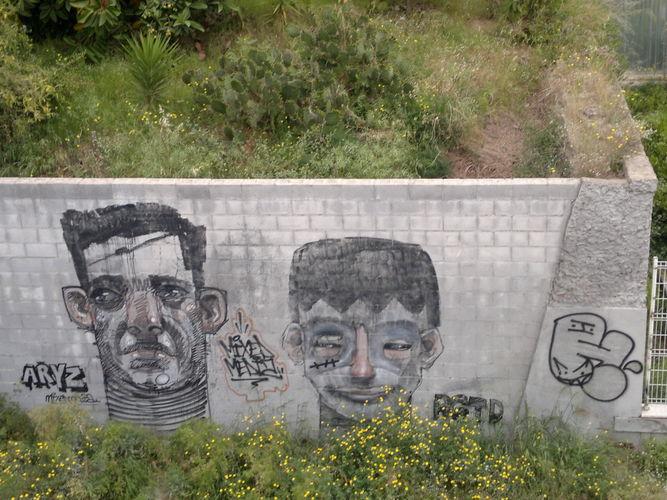 Œuvre Par Registred Kid, Aryz à Barcelone