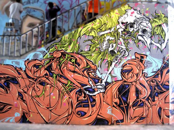 Œuvre Par ASTRO, KANOS à Hambourg (Abstrait, Letter art)