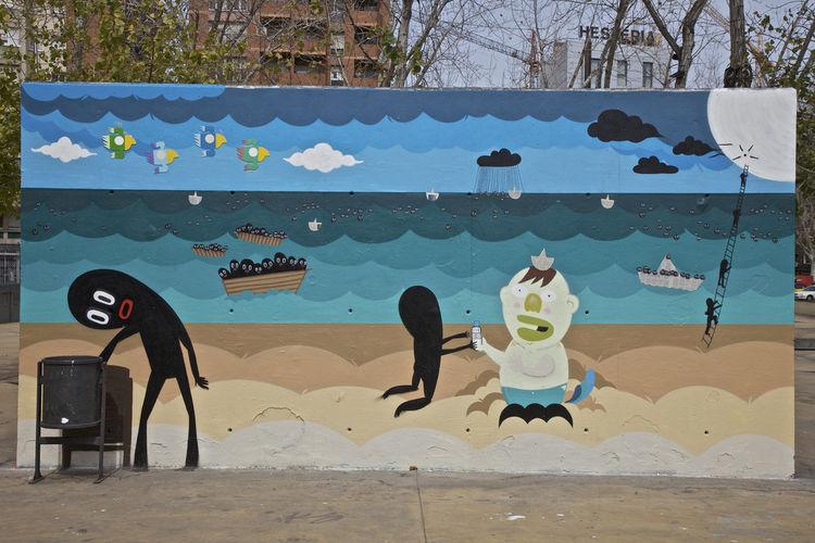Artwork By Boris Hoppek, Rodrigo Villas in Zaragoza