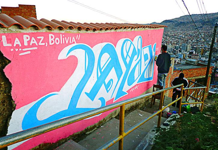 Œuvre Par Maspaz à La Paz
