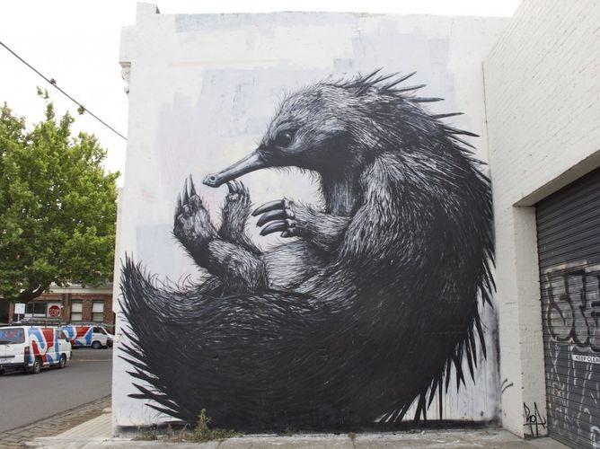 Artwork By Roa  (Nature, Building facade, Street Art)