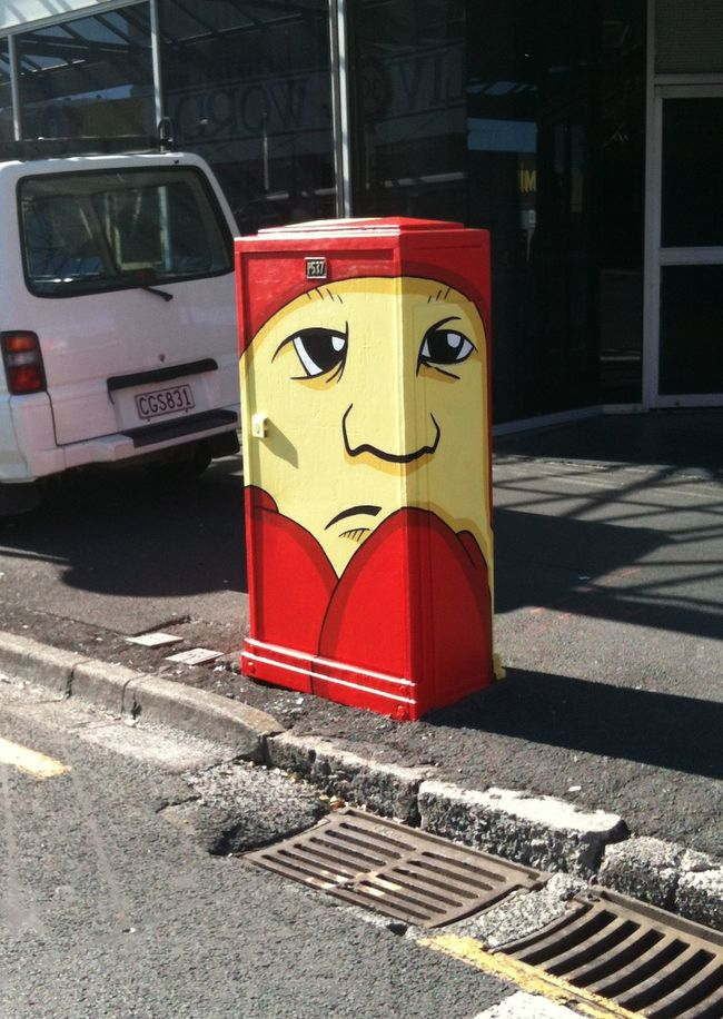 Artwork By Alex McLeod in Hamilton (Street equipment)