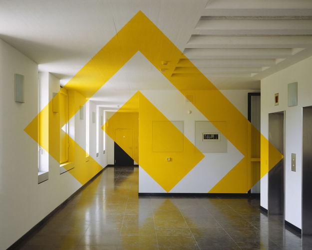 Œuvre Par Felice Varini à Lugano