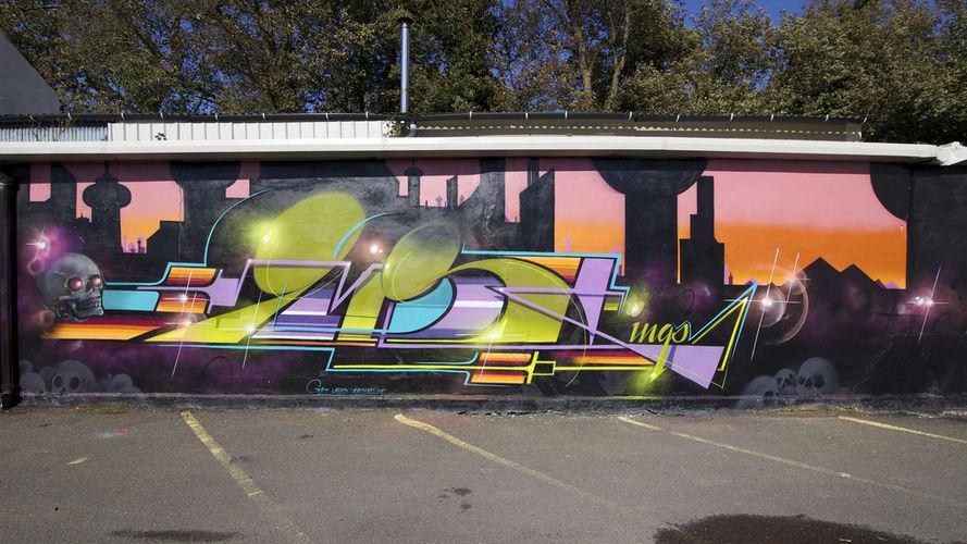 Œuvre Par Gary à Brighton (Mur, Abstrait, Letter art)