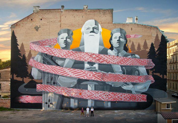 Œuvre Par KIWIE à Riga