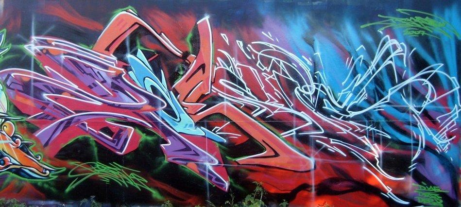 Œuvre Par Poesia à Los Angeles (Aérosol, Mur, Letter art, Graffiti)