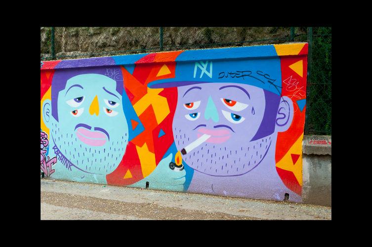 Œuvre Par Kashink à Paris (Futuriste, Mur, Illustration)