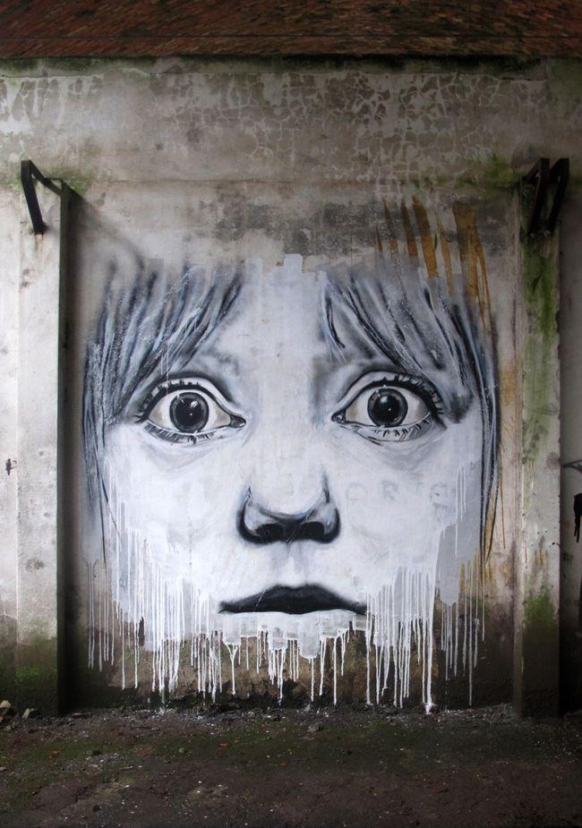 Œuvre Par Draw à Porto (Coulures, Portrait)