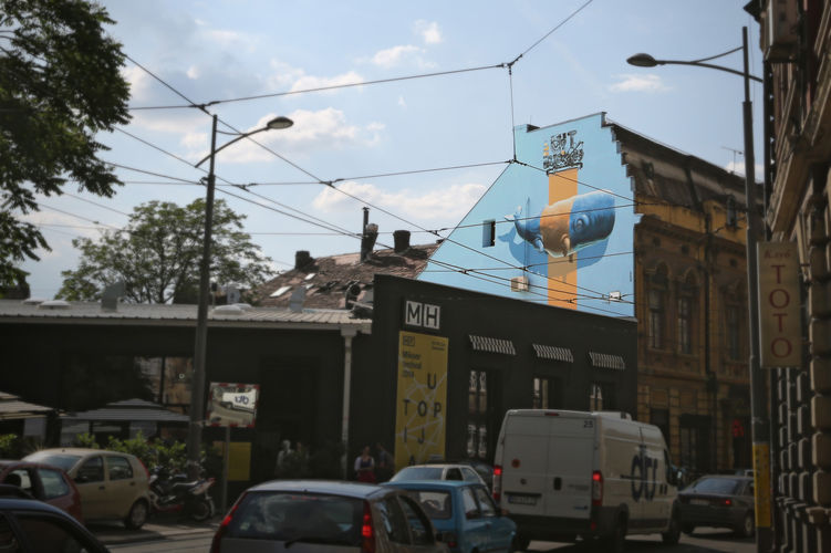 Œuvre Par NEVERCREW à Belgrade, Stari grad