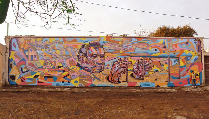 Œuvre Par El Decertor à San Andrés District