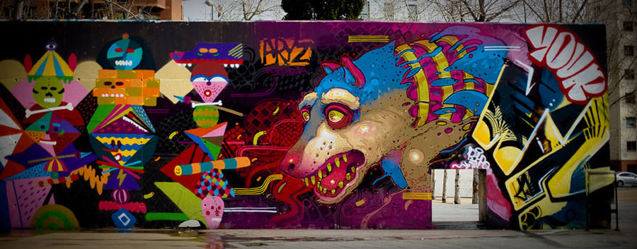Artwork By Aryz in Barcelona