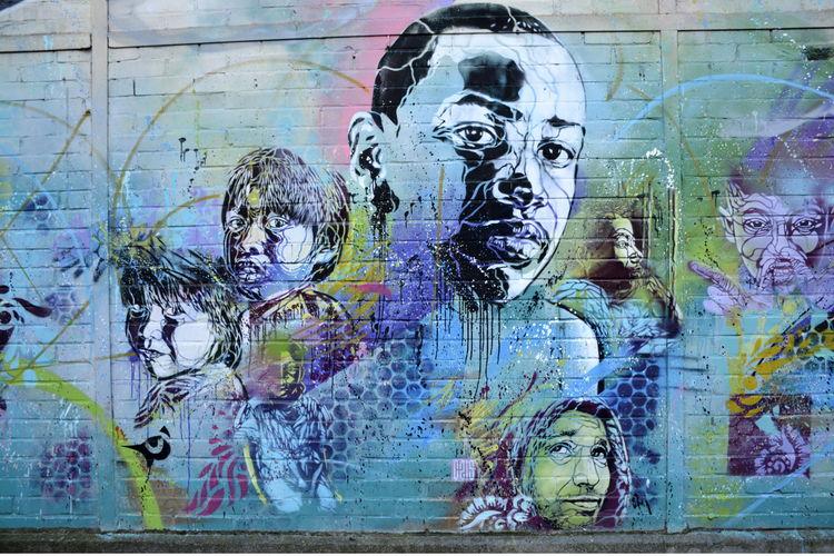 Œuvre Par C215 à Bonneuil-sur-Marne (Personnages, Collage, Mur, Street Art)