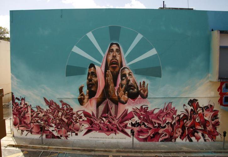 Œuvre Par Nosm, How, Belin à San Juan