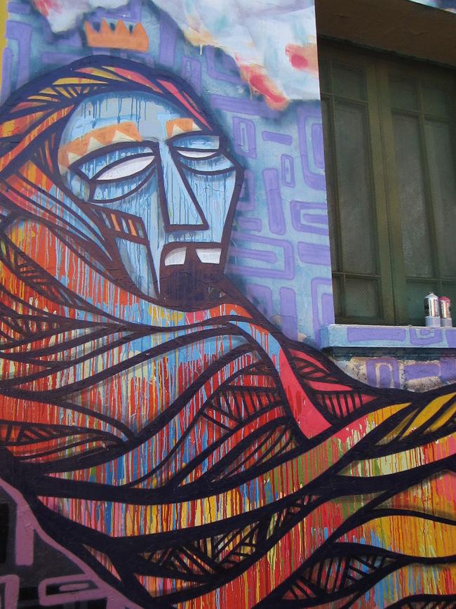 Œuvre Par Henruz à Santiago (Coulures, Aérosol)