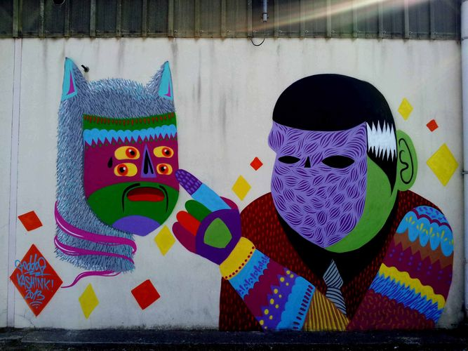 Artwork By Kashink, Goddog in Avignon (Characters, Wall, Street Art)